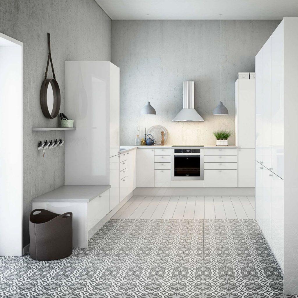 zwart-wit-cementtegels-keuken-vloer-wand