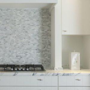 Natuursteen marmer mozaiek type carrara 3x5cm
