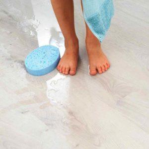 Laminaat dat tegen water kan. Ideaal voor de badkamer.