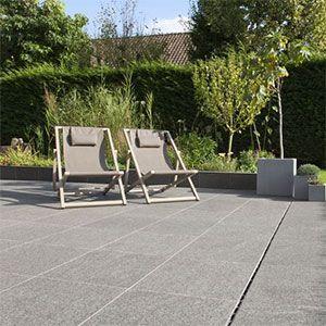 basalt tegels voor het terras