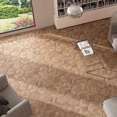 hexagonale parket tegels in keramiek