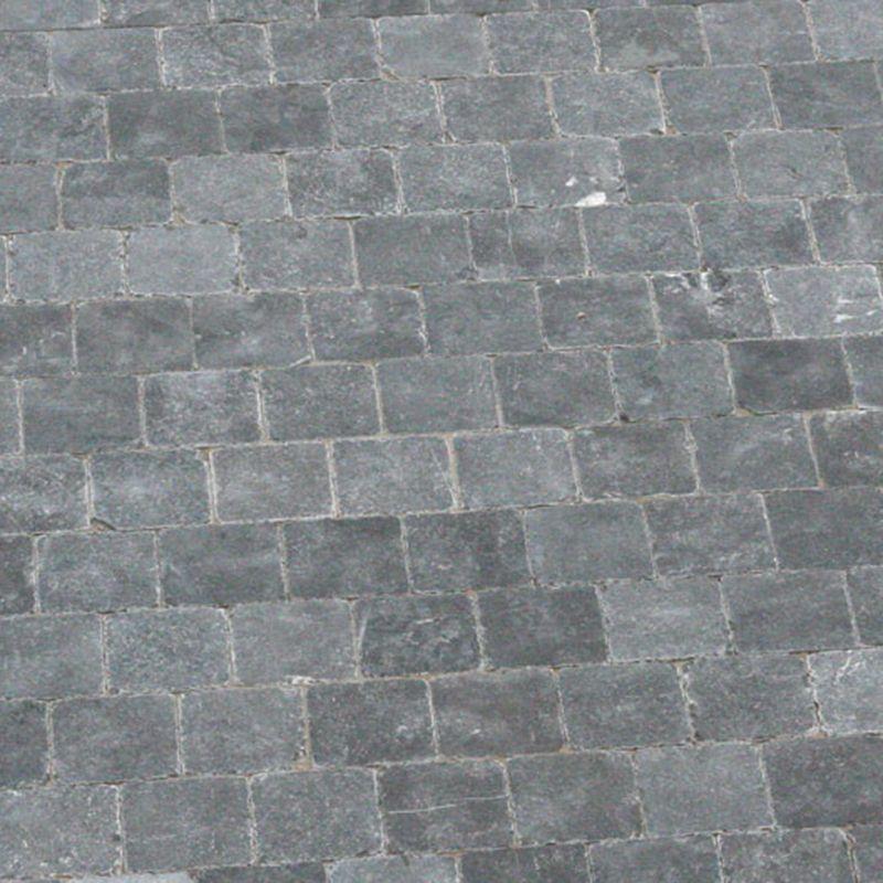outlet tegels van Top Tegel 04, West vlaanderen: Chinese blauwsteen 15x15x2.5cm.