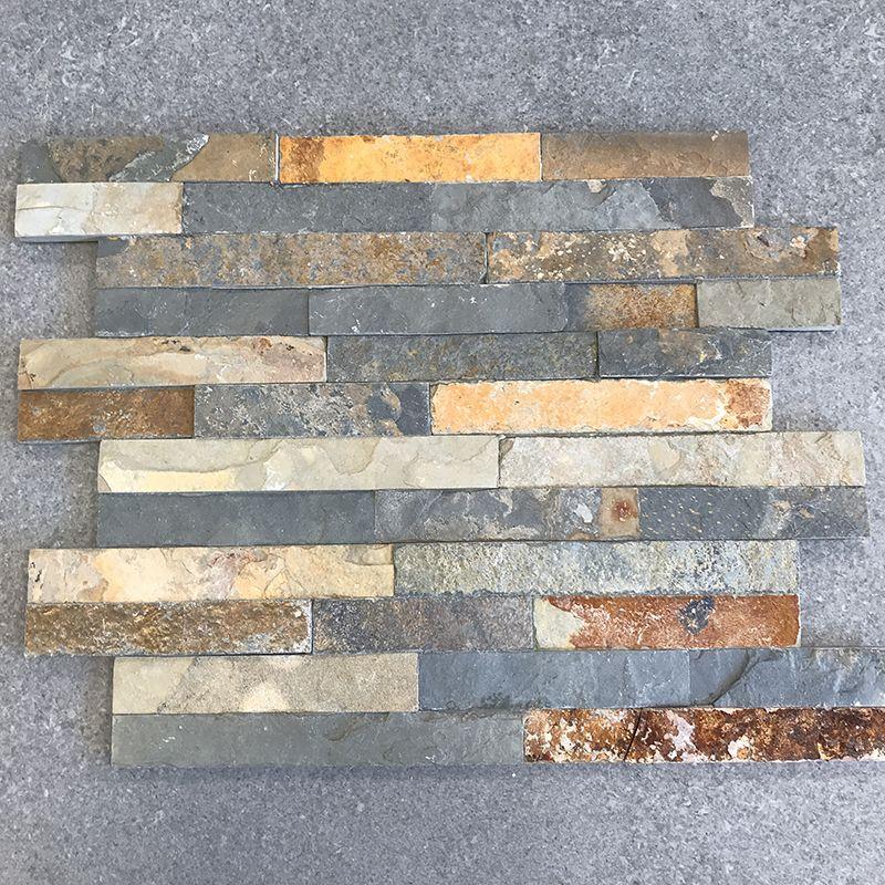 outlet tegels van Top Tegel 04, West vlaanderen: Steenstrips Rusty Slate 10x40cm