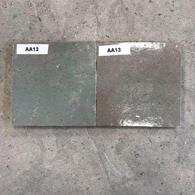 Solden in zelliges AA13 mix grijs groen rood bij Top Tegel 04 in West Vlaanderen